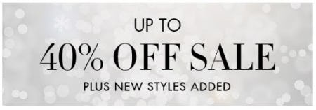 Up to 40% Off Sale from Henri Bendel