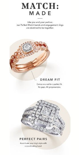 Meant-to-Be Bands & Rings from Helzberg Diamonds