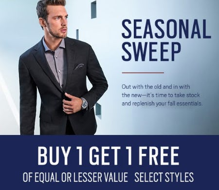 Buy 1, Get 1 Free from Men's Wearhouse and Tux