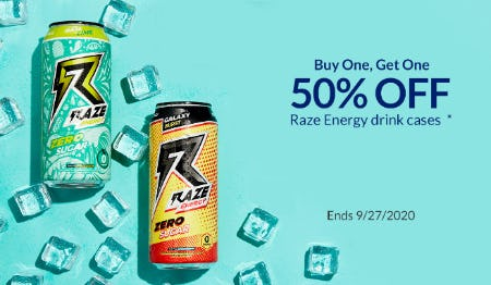 BOGO 50% Off Raze Energy Drink Cases