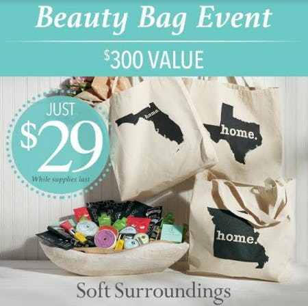 Beauty Bag Event from Soft Surroundings