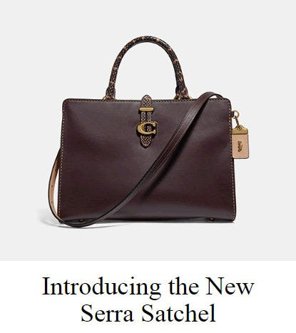 Introducing the New Serra Satchel from Coach