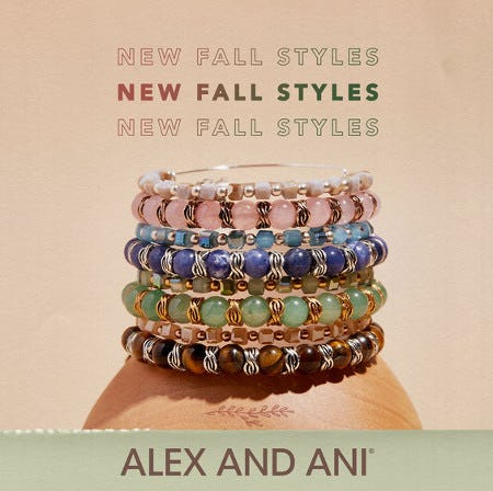 New Fall Styles from ALEX AND ANI