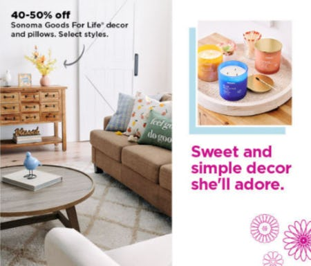 40-50% Off Sonoma Goods For Life Decor & Pillows from Kohl's