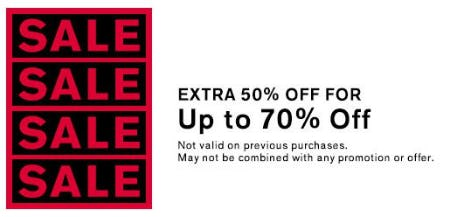 50% Off Clearance from Express