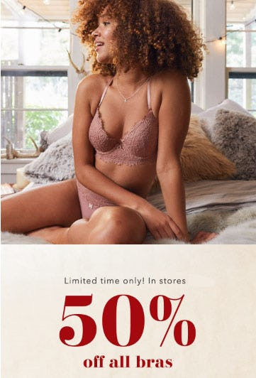 50% Off All Bras from Aerie