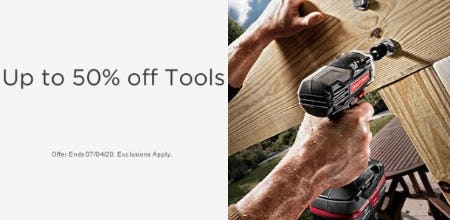 Up to 50% Off Tools
