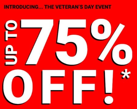Up to 75% Off The Veteran's Day Event from Forever 21