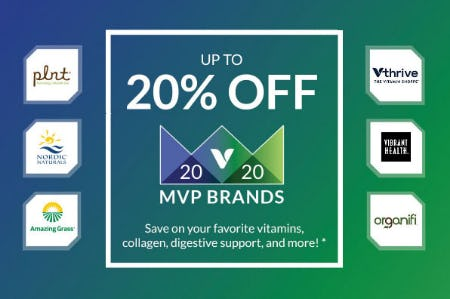 Up to 20% Off MVP Brands from The Vitamin Shoppe