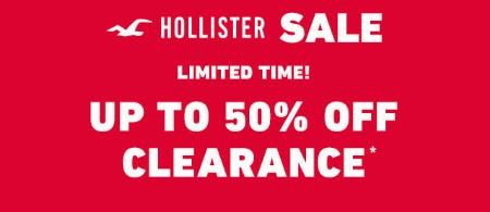 Up to 50% Off Clearance from Hollister Co.