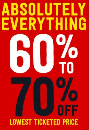 60% to 70% Off Everything from Crazy 8