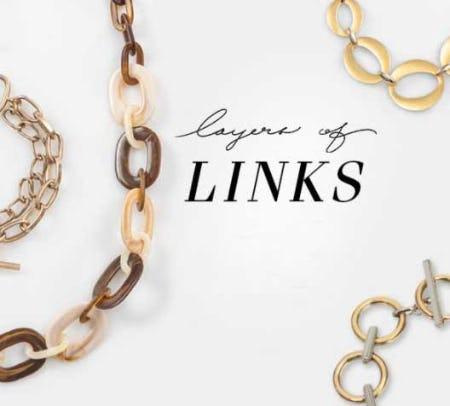 Our Favorite Jewelry Trend for Fall: Layers of Links from Von Maur