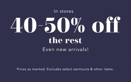 40-50% Off The Rest from Aerie