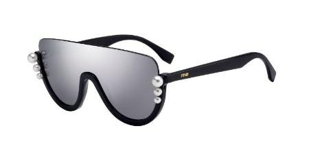 Fendi Ribbons And Pearls 0295 Shield Sunglasses
