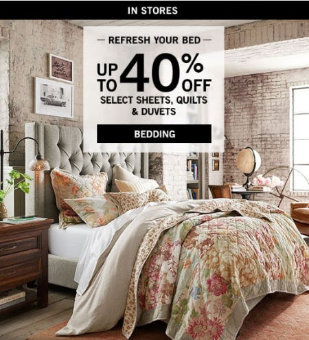 Up to 40% Off Bedding