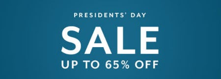 Up to 65% Off Presidents' Day Sale