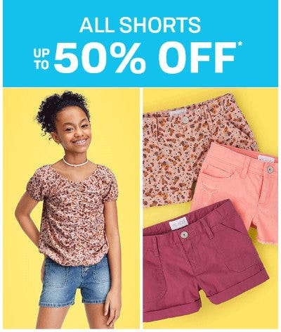 All Shorts up to 50% Off from The Children's Place Gymboree