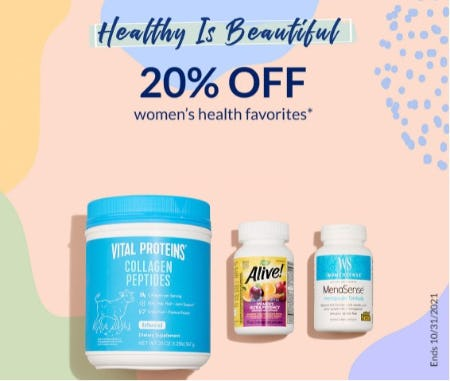 20% Off Women's Health Favorites from The Vitamin Shoppe