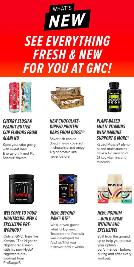 Meet Our New Fall Products from GNC