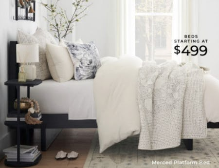 Beds Starting at $499 from Pottery Barn