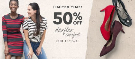 50% Off Dexflex Comfort from Payless ShoeSource
