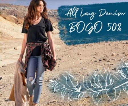 BOGO 50% Off All Long Denim from Altar'd State