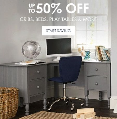 Furniture Clearance up to 50% Off from Pottery Barn Kids