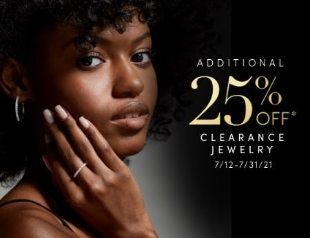 Additional 25% Off Clearance Jewelry