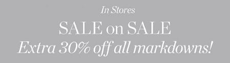 Extra 30% Off All Markdowns from Talbots