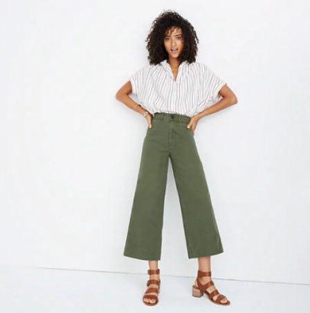 Emmett Wide-Leg Crop Pants from Madewell