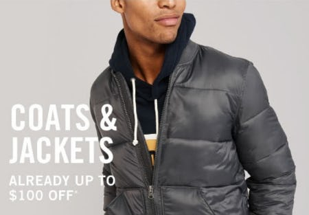 Up to $100 Off Coats & Jackets from Abercrombie & Fitch