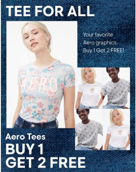 Aero Tees Buy 1, Get 2 Free from Aéropostale