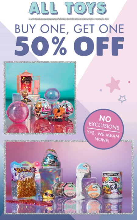 BOGO 50% Off All Toys from Justice
