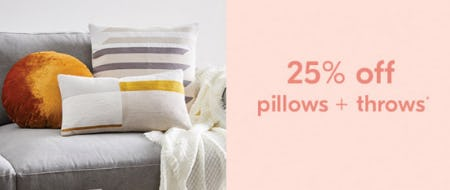 25% Off Pillows + Throws from West Elm