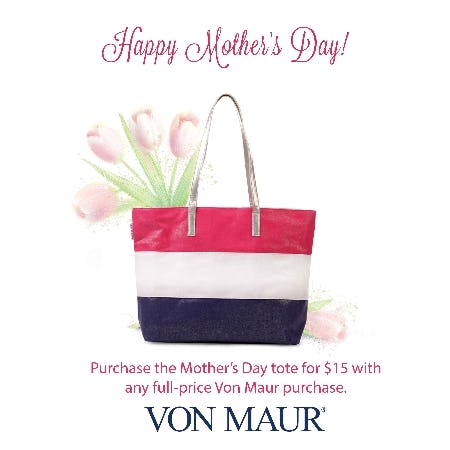 Mother's Day Tote Purchase With Purchase from Von Maur