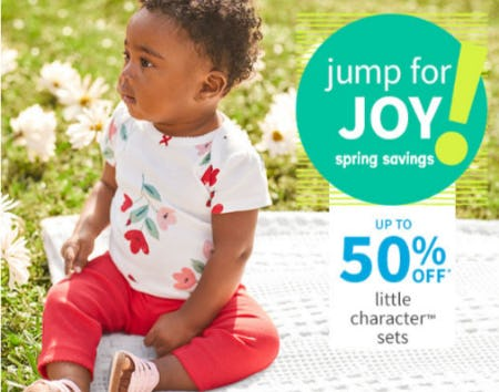 Up to 50% Off Little Character Sets from Carter's
