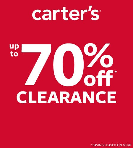 HANGIN ON TO SUMMER-UP TO 70% OFF CLEARANCE from Carter's