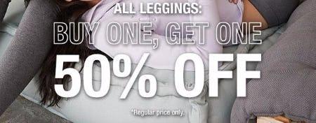 BOGO 50% Off All Leggings