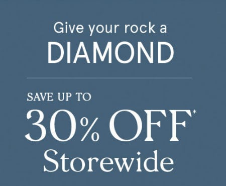 Up to 30% Off Storewide from Zales The Diamond Store
