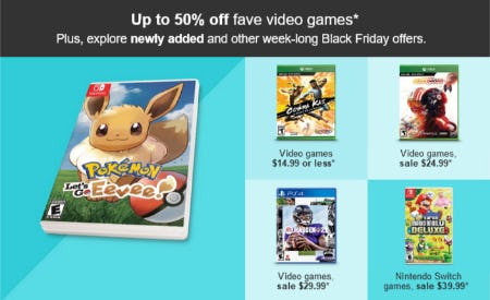 Up to 50% Off Fave Video Games