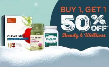 Buy 1, Get 1 50% Off Beauty & Wellness