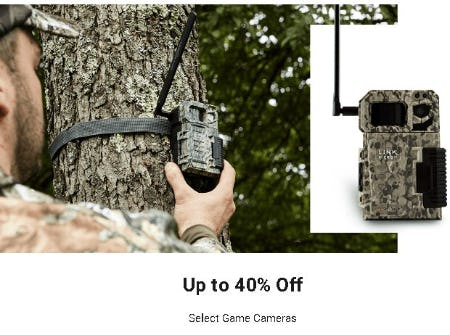 Up to 40% Off Select Game Cameras