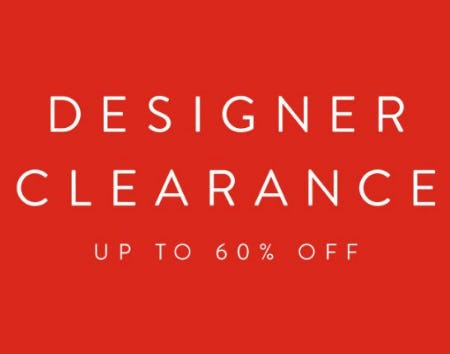 Designer Clearance up to 60% Off