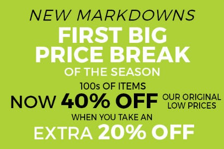 New Markdowns Up to 40% Off from Stein Mart