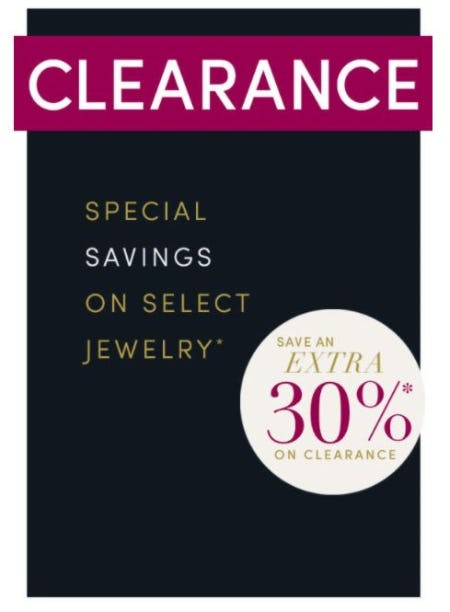 Extra 30% Off Clearance from Jared Galleria of Jewelry
