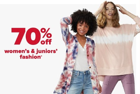 70% Off Women's & Juniors' Fashion from Belk