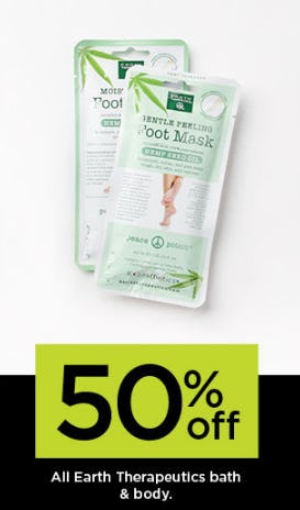 50% on All Earth Therapeutics Bath & Body