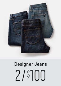 Designer Jeans 2 for $100 from Men's Wearhouse