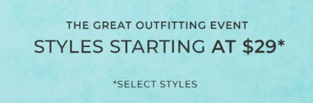 Select Styles Starting at $29 from Chico's