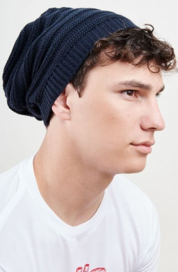 Basic Navy Blue Ribbed Beanie from Earthbound Trading Company